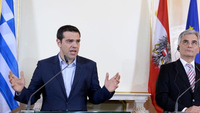 De Griekse premier Tsipras. Beeld epa