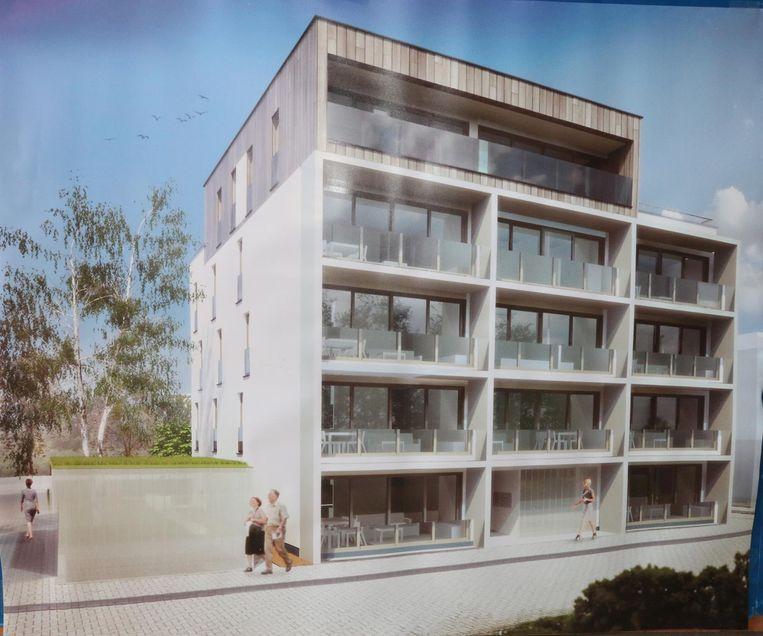 Zo zullen de appartementen op de nieuwe wijk De Vloei eruit zien.