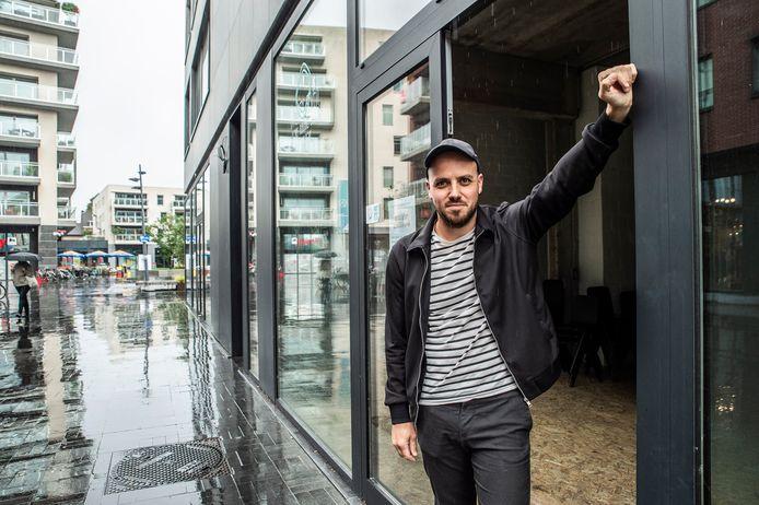 Jasper Dejonckheere bij het #HACKpand op De Munt.