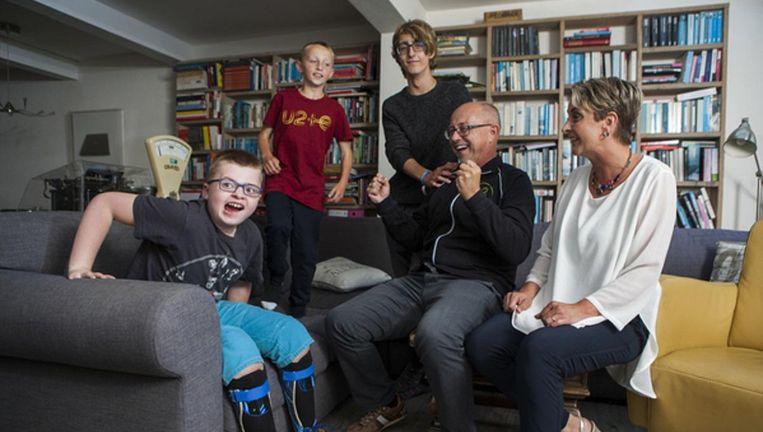 Willem Vissers met zoon Samuel. Beeld Foto: Marijn Scheeres