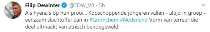 Onder anderen Filip Dewinter twitterde over de video.