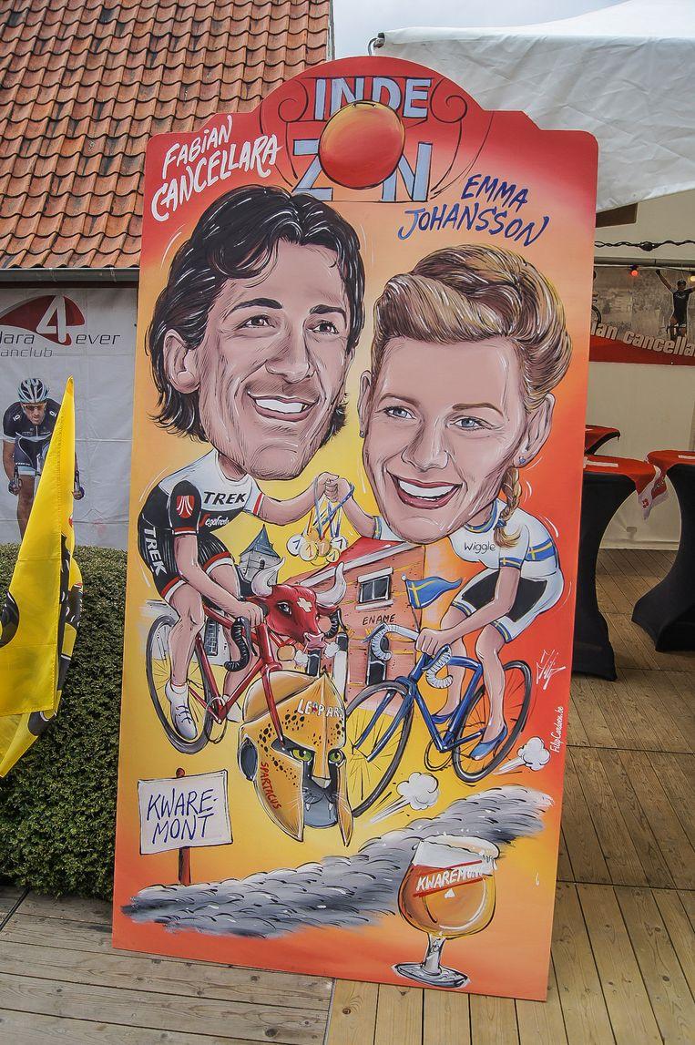 Filiep Cardoen schilderde Fabian Cancellara meermaals en heeft bijzonder mooie herinneringen aan de man.