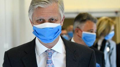 Koning steekt zorgpersoneel hart onder de riem tijdens bezoek UZ Brussel