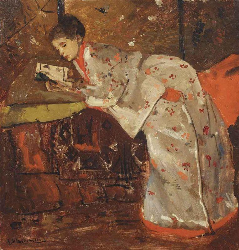 Geesje Kwak in kimono Beeld Rijksmuseum