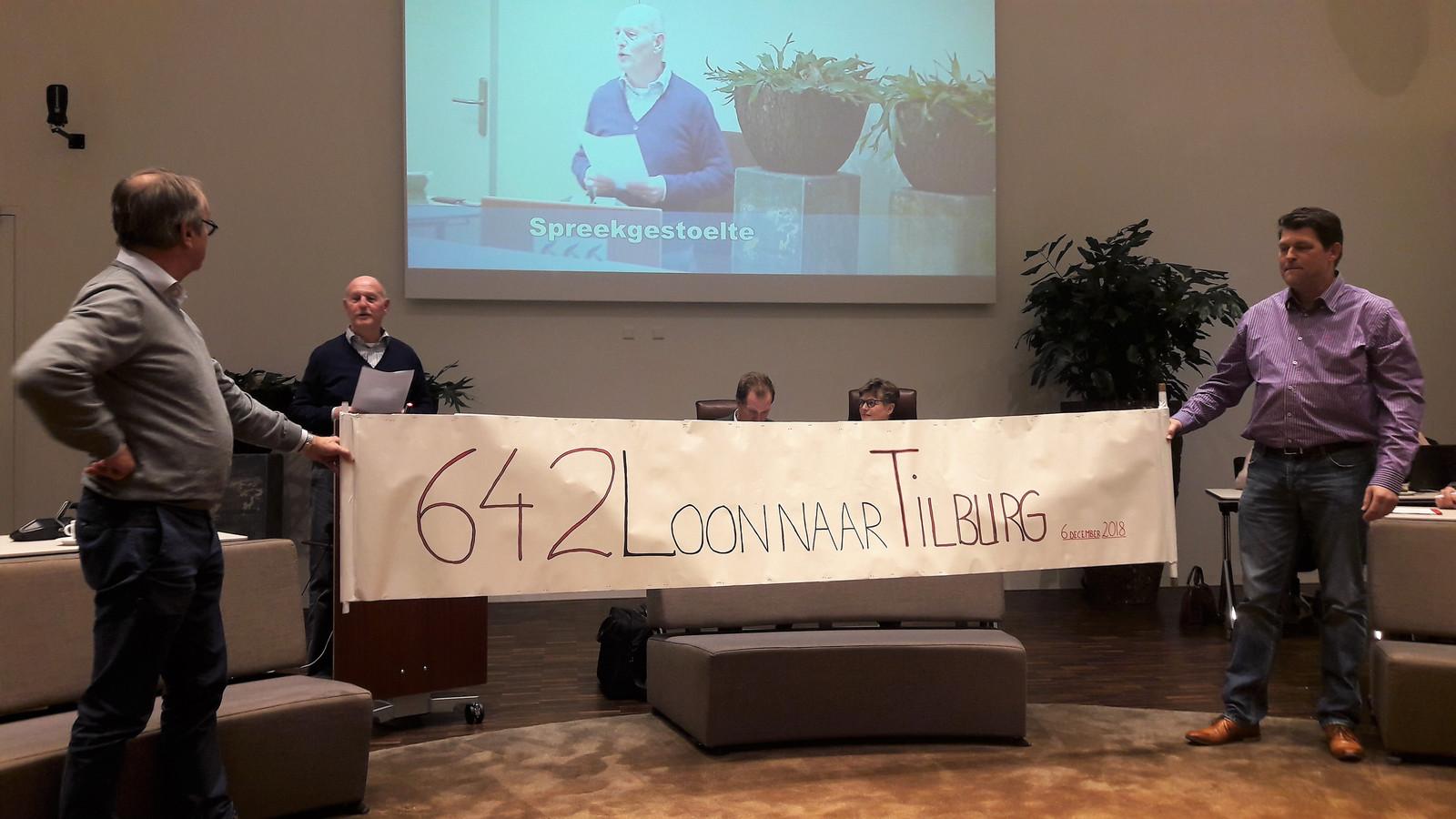 De drie initiatiefnemers van de handtekeningenactie met v.l.n.r. Wim Meulesteen, Ton Janssen en Jan van Gompel.