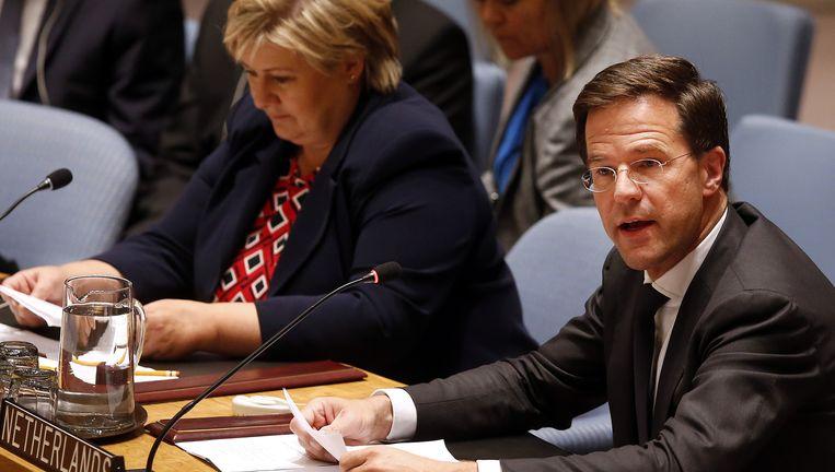 Rutte bij de VN-veiligheidsraad. Beeld null