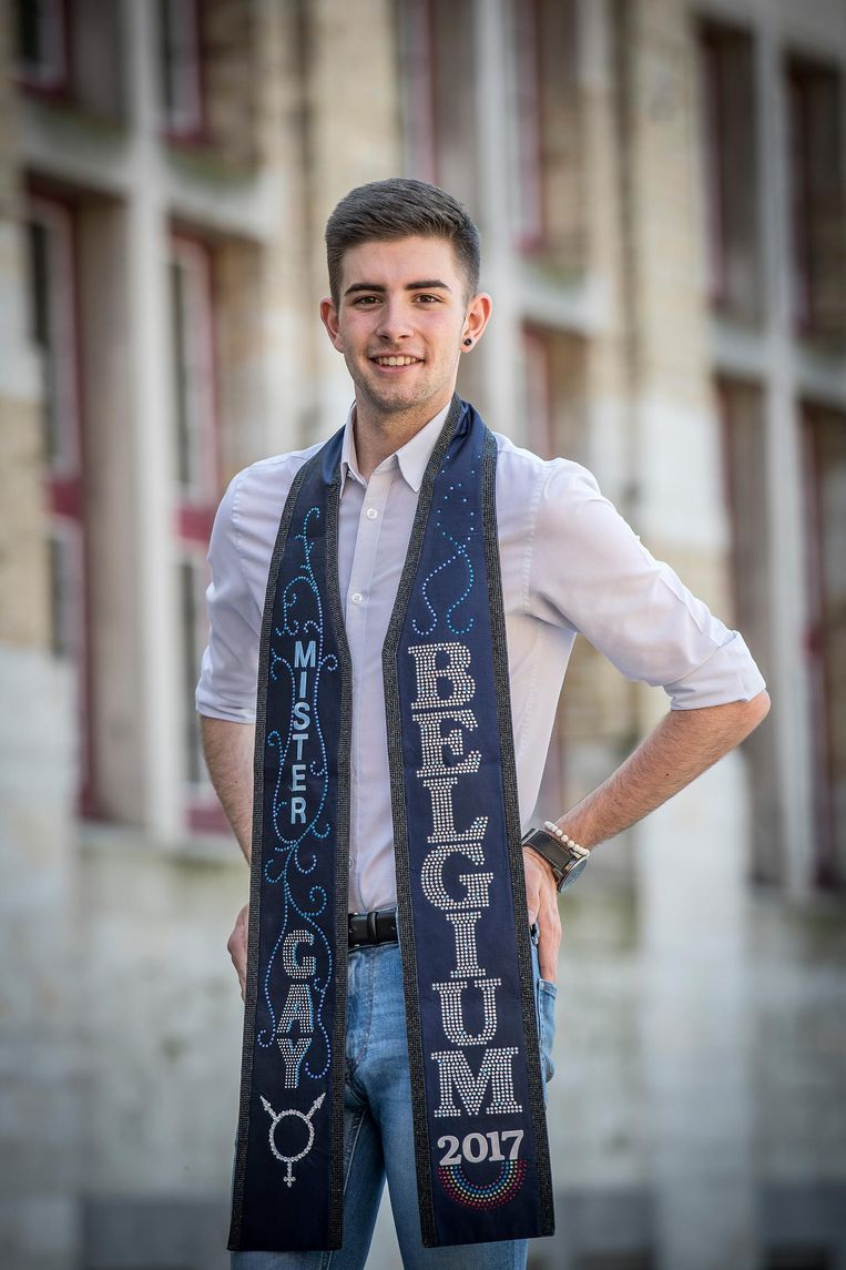Mr Gay Belgium Jaimie Deblieck (19) dingt op 26 mei mee naar de titel Mr Gay World in Zuid-Afrika.