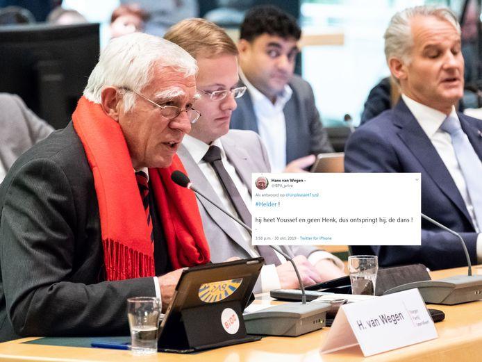 Hans van Wegen met de betreffende tweet