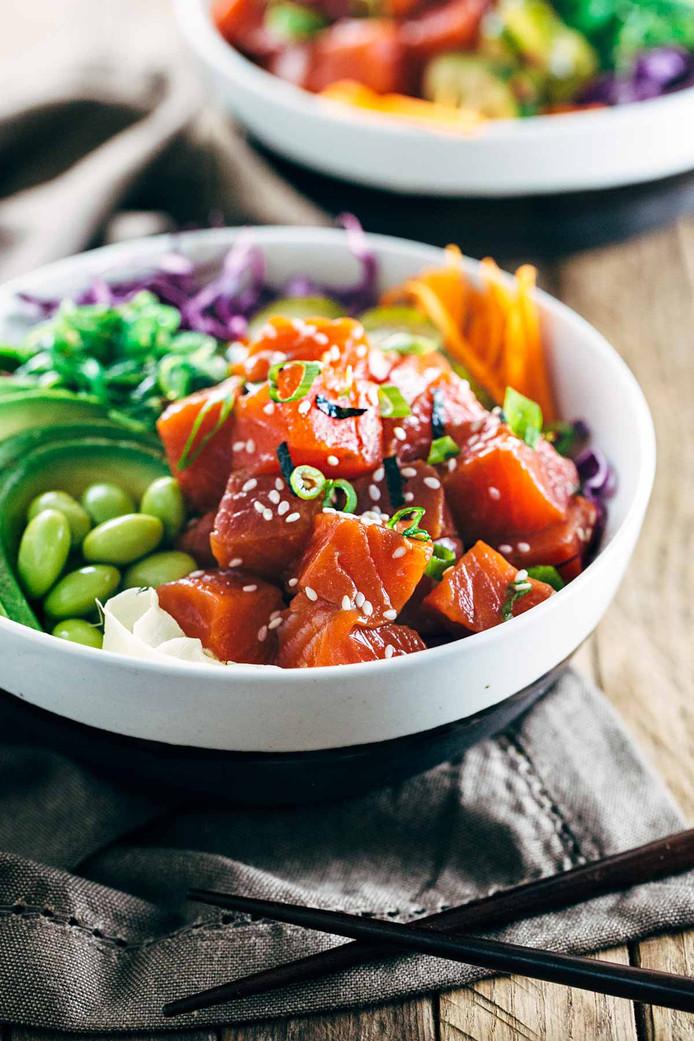 Een poké bowl ziet er niet alleen prachtig uit, het smaakt ook heerlijk.