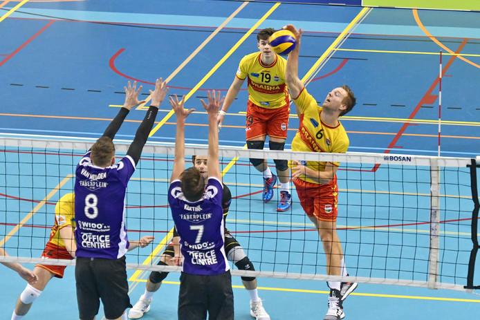 Vocasa in duel met Dynamo uit Apeldoorn, eerder dit seizoen.