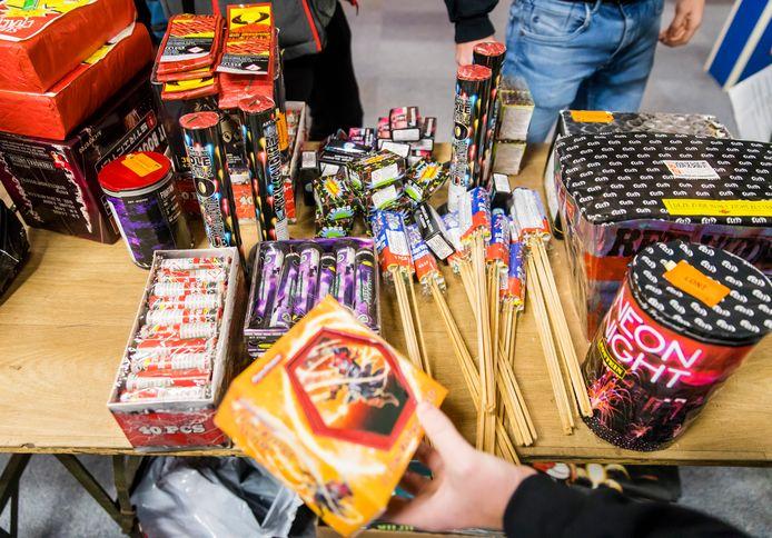 Een vuurwerkhandel in Rijswijk.