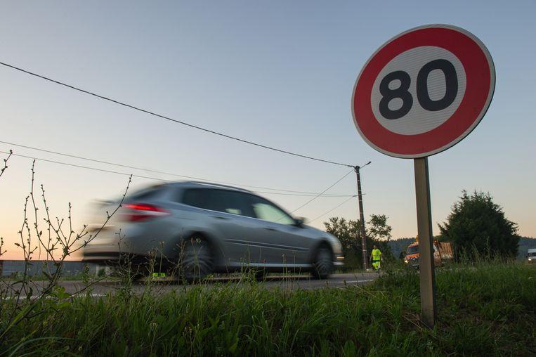 Op Franse gewestwegen geldt voortaan een maximumsnelheid van 80 km per uur.