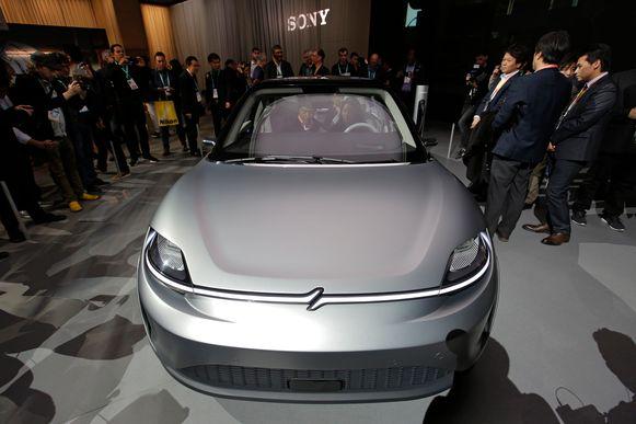 De Sony Vision-S electric concept car.