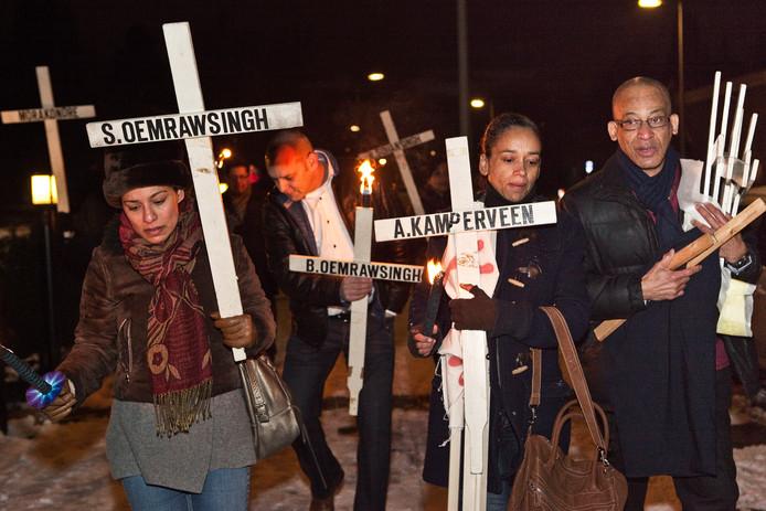 Herdenking van de Decembermoorden in Amsterdam