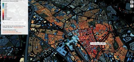 Interactieve kaart toont bouwjaar van bijna alle gebouwen in Utrecht