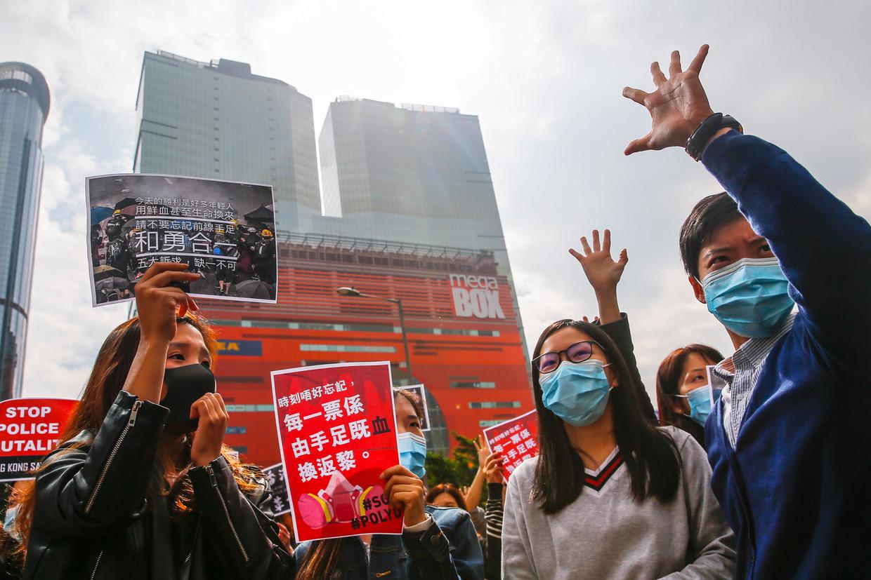 Demonstranten in Hong Kong.