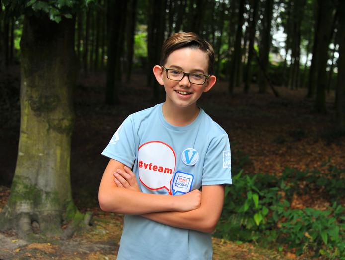 Thomas Overdijk (11) uit Lieshout doet mee aan de Nijmeegse Vierdaagse.