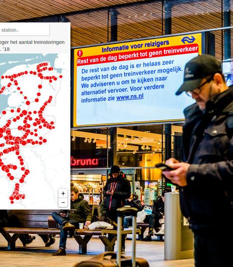 Meeste storingen op Rotterdam CS: hoe zit dat bij 'jouw' trein?
