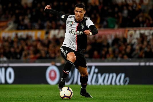 Cristiano Ronaldo in het nieuwe tenue van Juventus.