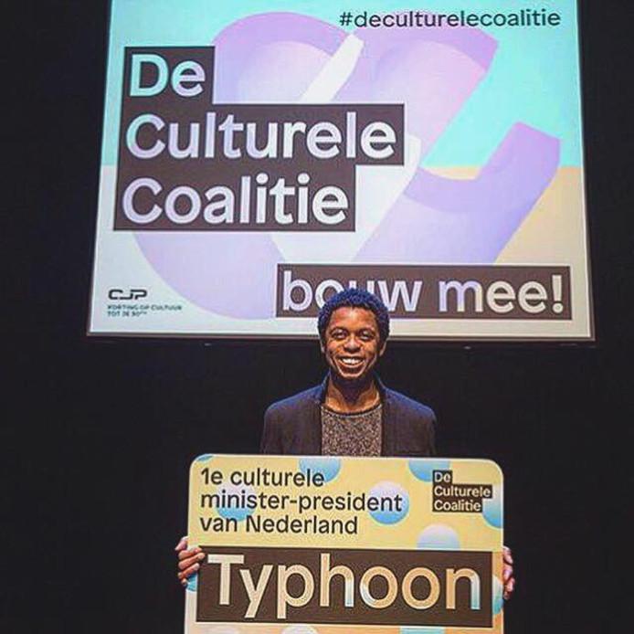 Typhoon benoemd tot eerste Culturele Minister-President.