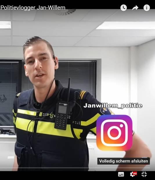 Screenshot van een vlogpost van Jan-Willem.