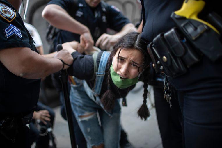 Politieoptreden in New York. Beeld AP