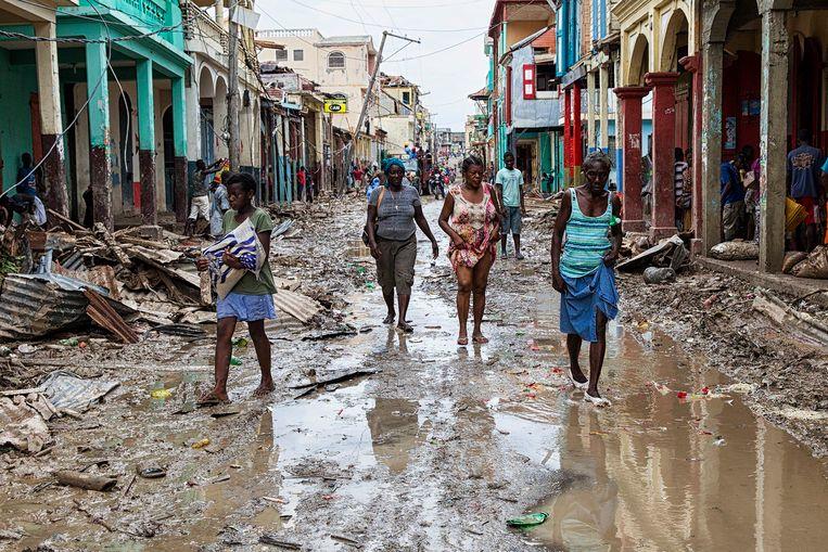 De stad Jeremie na de doortocht van orkaan Matthew.