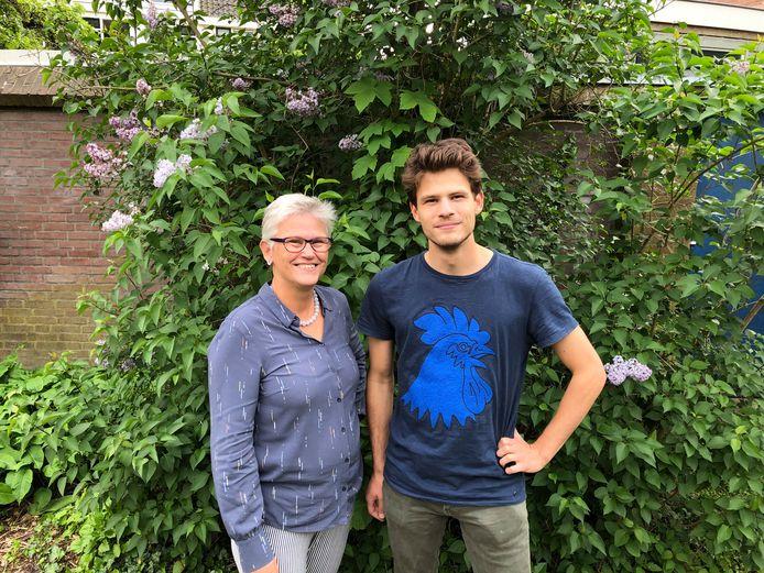 Elmar Theune en Jasper Munnichs van Volt in Wageningen