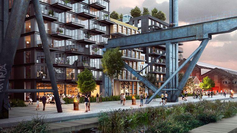 Terrein Oostenburg moet uitgroeien tot nieuwe culturele woonwijk. Beeld Artist's impression Vorm