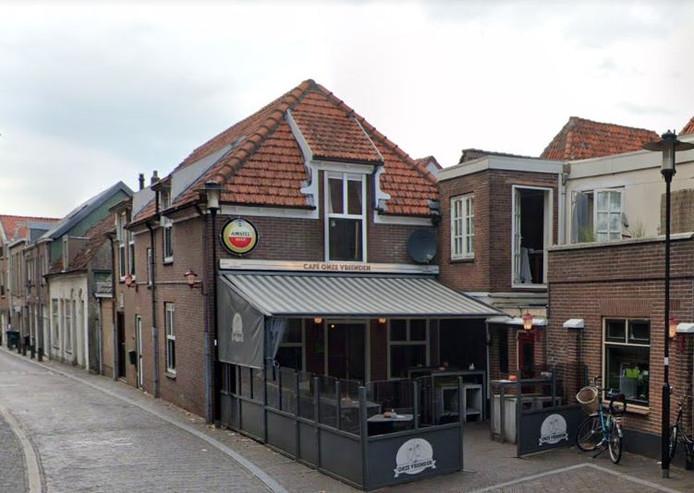 Cafe Onze Vrienden aan de Havenstraat in Woerden.