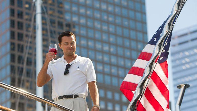 Leonardo DiCaprio in The Wolf of Wall Street Beeld ap