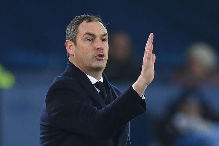Clement als coach van Swansea in 2015.