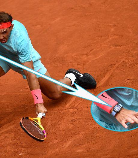 Nadal tennist met horloge van een miljoen dollar op Roland Garros
