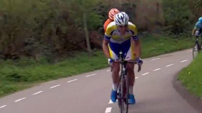 """Na meer dan 200 kilometer in de aanval plaatst Van Hecke nog een versnelling op de laatste klim: """"Een diepe buiging"""""""