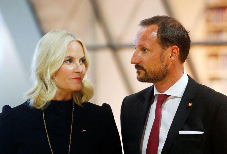 Kroonprins Haakon en zijn vrouw kroonprinses Mette-Marit.