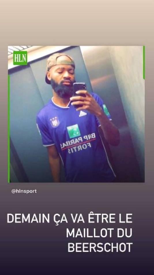 """Lamkel Zé op zijn Instagram: ,,Morgen is het een t-shirt van Beerschot"""""""