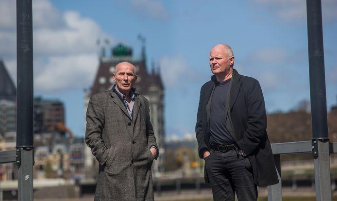 Schrijver Jacques Post (links) en tekenaar Eric Heuvel.