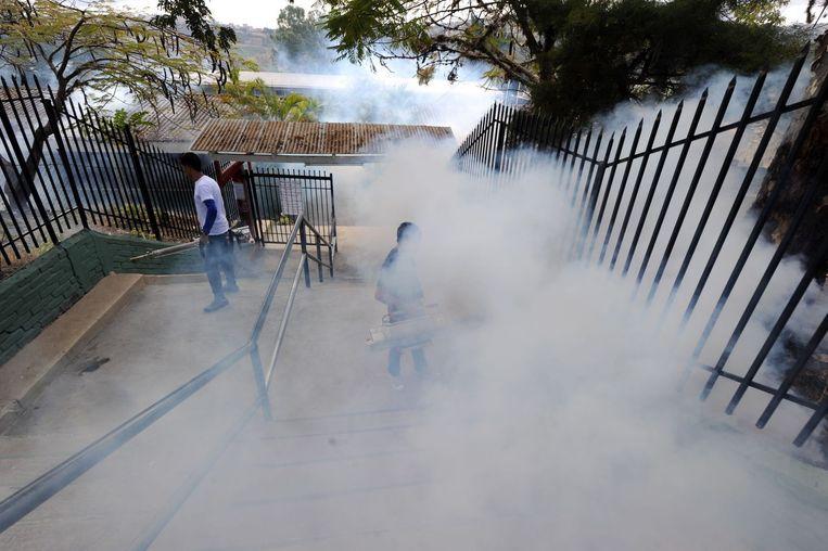 Honduras is in gifwolken gehuld. Beeld afp