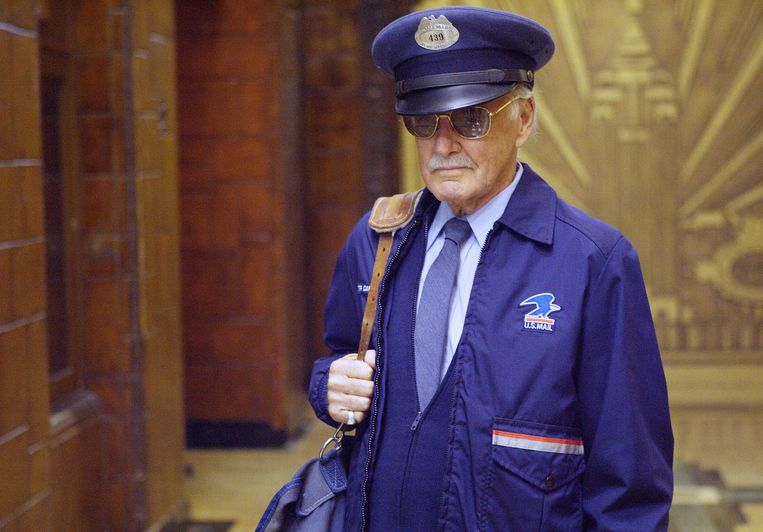 Stan Lee als postbode in 'The Fantastic Four'.