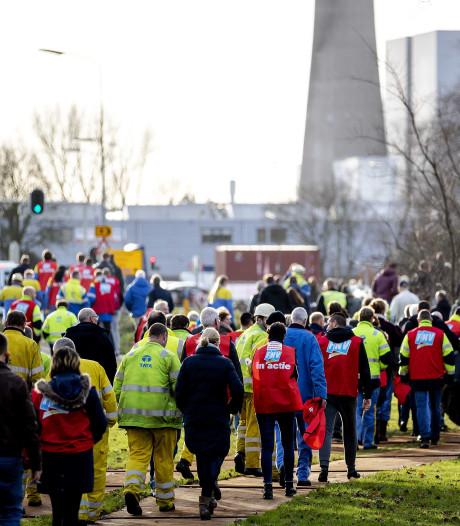 Acties tegen bezuinigingsplannen Tata Steel IJmuiden