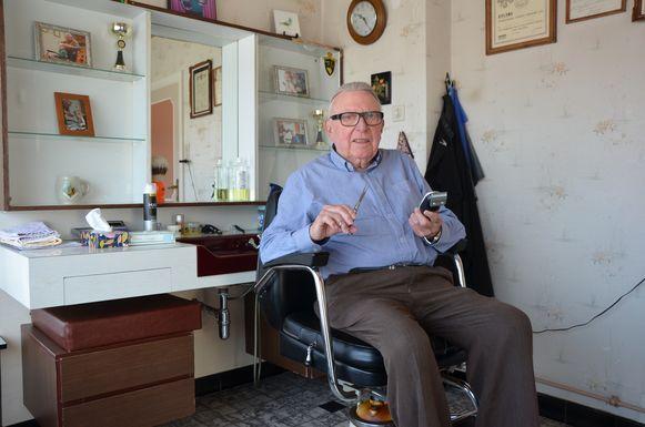 Kapper Hilaire Vereecke heeft 75 jaar gewerkt.