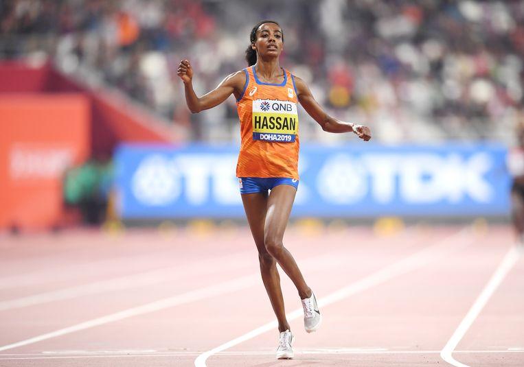 Sifan Hassan won eind september WK-goud op de 10.000 meter. Een week later werd ze ook wereldkampioen op de 1.500 meter. Beeld Getty