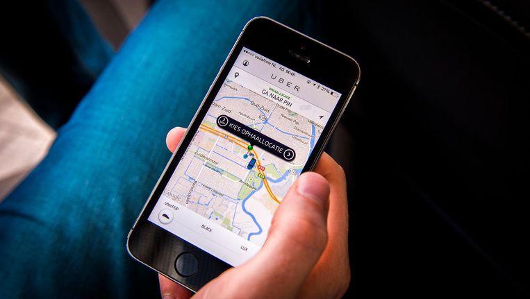 De Uber-app. Beeld anp