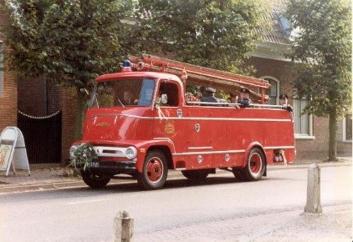 Tijdens de beurs in Vaassen zijn ook oude brandweerauto's te zien, niet per se deze.