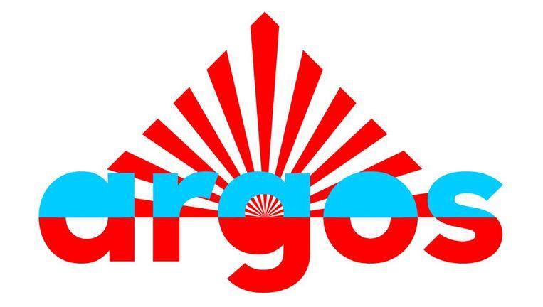 Het logo van Argos. Beeld null