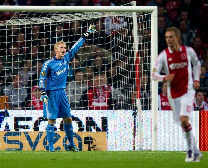 Jasper Cillessen bij zijn debuut voor Ajax