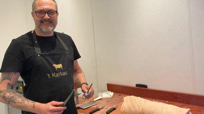 """Isabelle en Renaat bouwen ondanks coronacrisis oude autogarage om tot slagerij  't Karkas: """"In het weekend fysiek open,  door de week kan je online bestellen"""""""