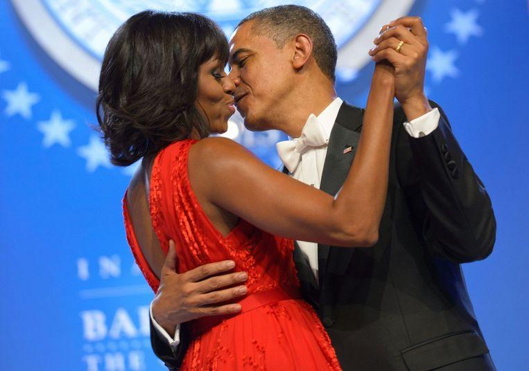President Barack Obama met zijn vrouw Michelle. Beeld AFP