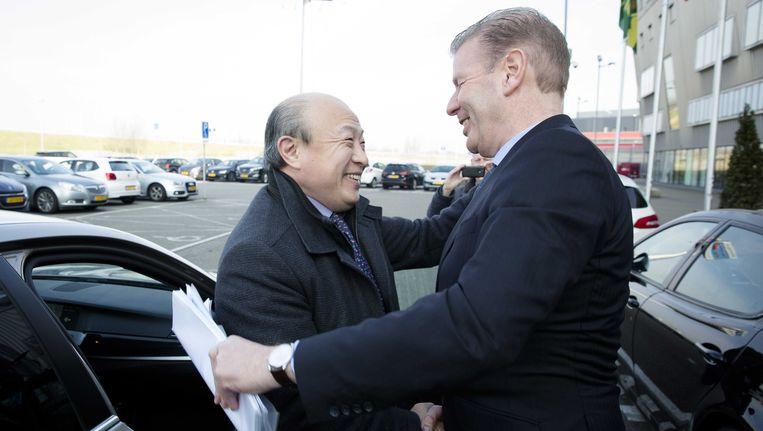 Wang Hui en Jan Willem Wigt. Beeld anp