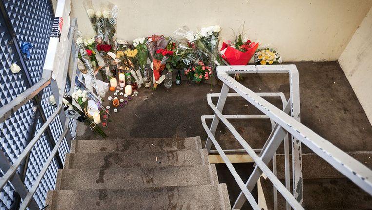 De plek waar Sergio B. werd neergeschoten. Foto Marc Driessen Beeld